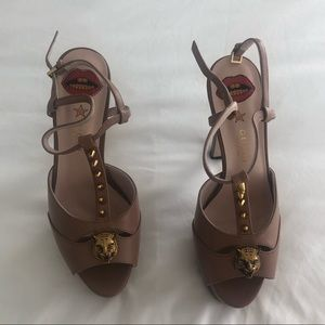 Gucci Shoes - Gucci Angel Leather Platform Sandals